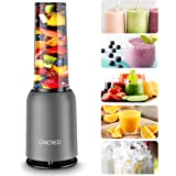 [Updated 2020 Version] Personal Countertop Blender for Milkshake, Fruit Vegetables Drinks, Smoothie, Small Mini Portable Food