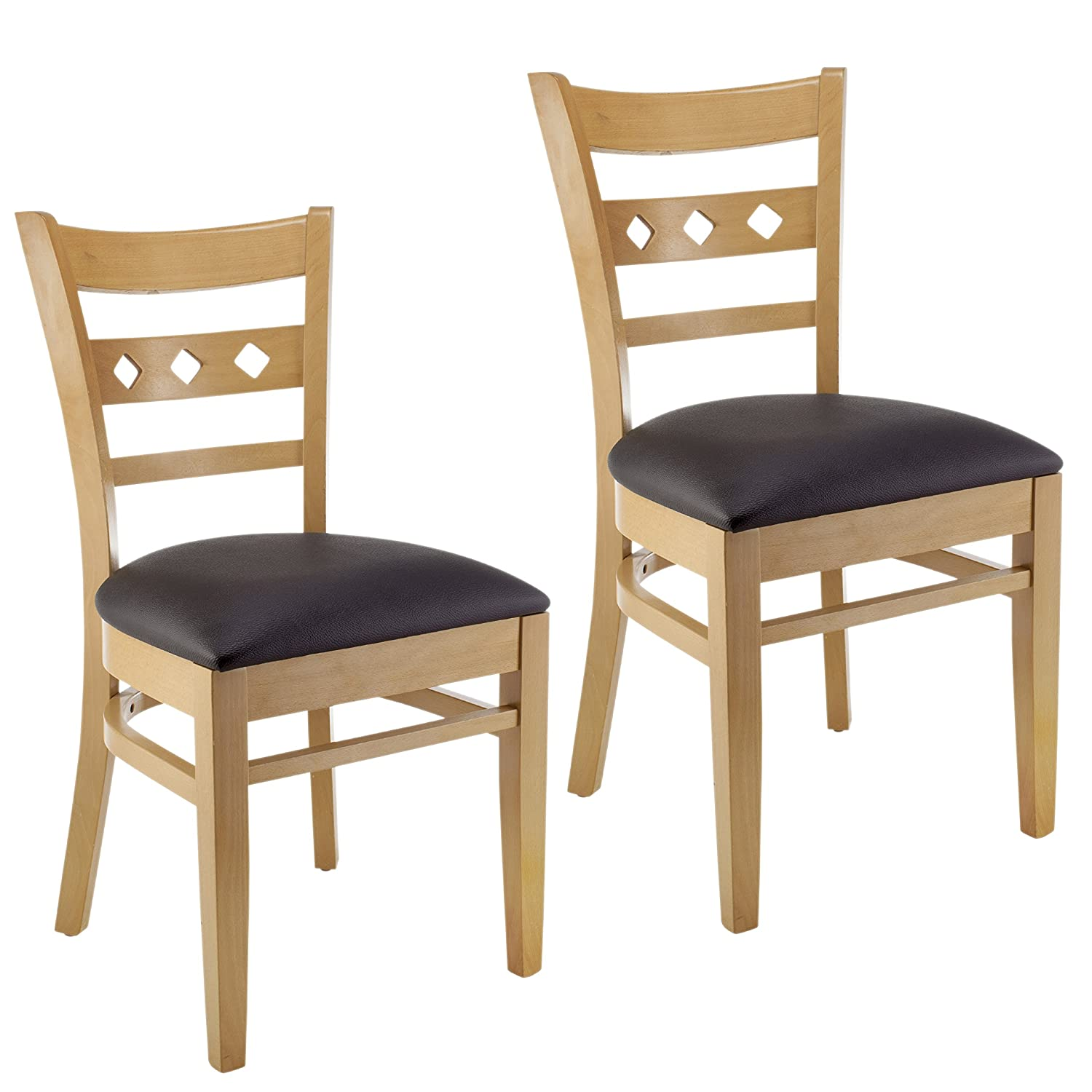 Amazon com beechwood mountain bsd 18s n solid beech wood side chairs in natural for kitchen and dining set of 2 chairs