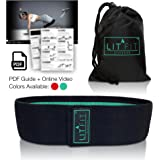LIT FIT Loop Resistance Band for Legs and Butt with Online Workout Video, E-Guide & Carry Bag - Premium Heavy Duty Hip Band - Non Slip Circle Design - Booty Band for Home or Gym