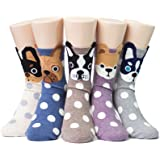 Socksense Hello Puppy Dogs Women's Socks 5pairs(5color)=1pack Made in Korea