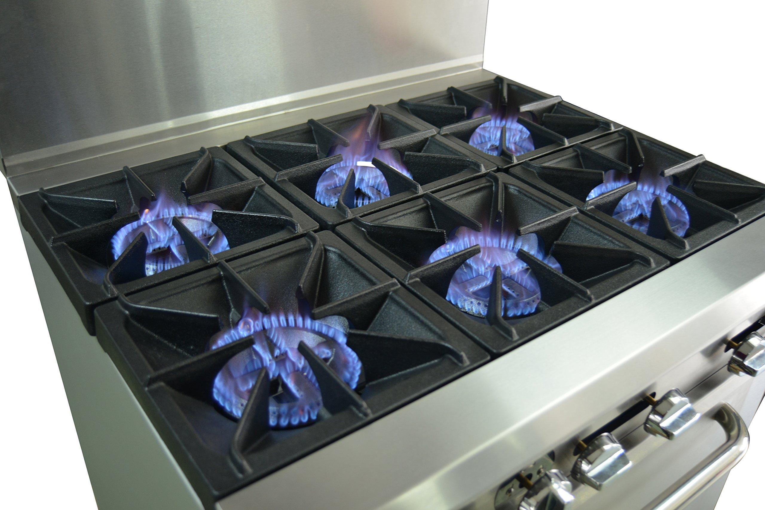 Hakka Heavy Duty Commercial 36'' Gas 6 Burners Range with Oven