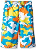 Kanu Surf Boys' Big Specter Quick Dry UPF 50+ Beach Swim Trunk, Camo Aqua, Large (14/16)