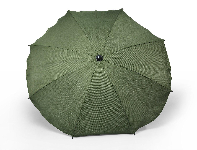 Universal Sonnenschirm Regenschirm f/ür Kinderwagen und Sport Buggy Babywagen Schirm mit Universal Halterung Beige UV-Schutz50+ Sonnensegel Sonnenschutz
