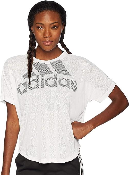 detailed look c0058 91ca7 adidas Training Magic Logo Tee, White, Small
