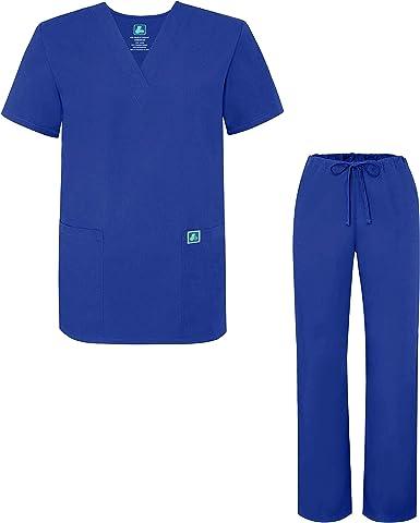Amazon Com Adar Uniformes Medicos Universales Ambo Medico Calce Sueltos Para Hombre 30 Colores Xl Azul Royal Clothing