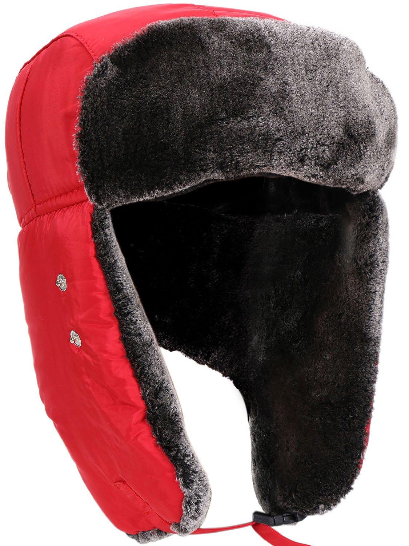 Livingston Winter Outdoors Faux Fur Waterproof Trooper Hat w/Mask