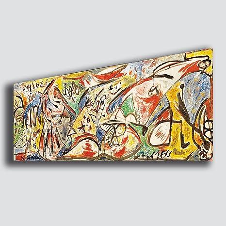 quadri moderni soggiorno  Quadro Moderno Soggiorno POLLOCK Jackson Figura della Furia ...