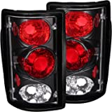 2000-2006 FORD EXCURSION REAR BRAKE TAIL LIGHTS BLACK HOUSING+LED BUMPER RUNNING