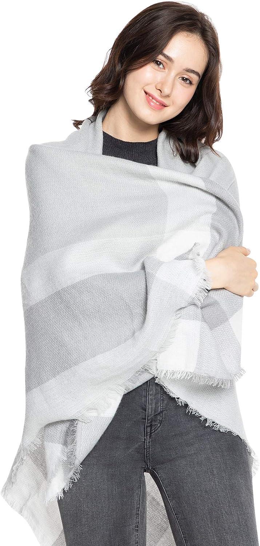 Superora Bufanda Mujer Invierno Chal Manta Caliente Enrejado Cuadrada Tartán Cachemira 140 * 140cm