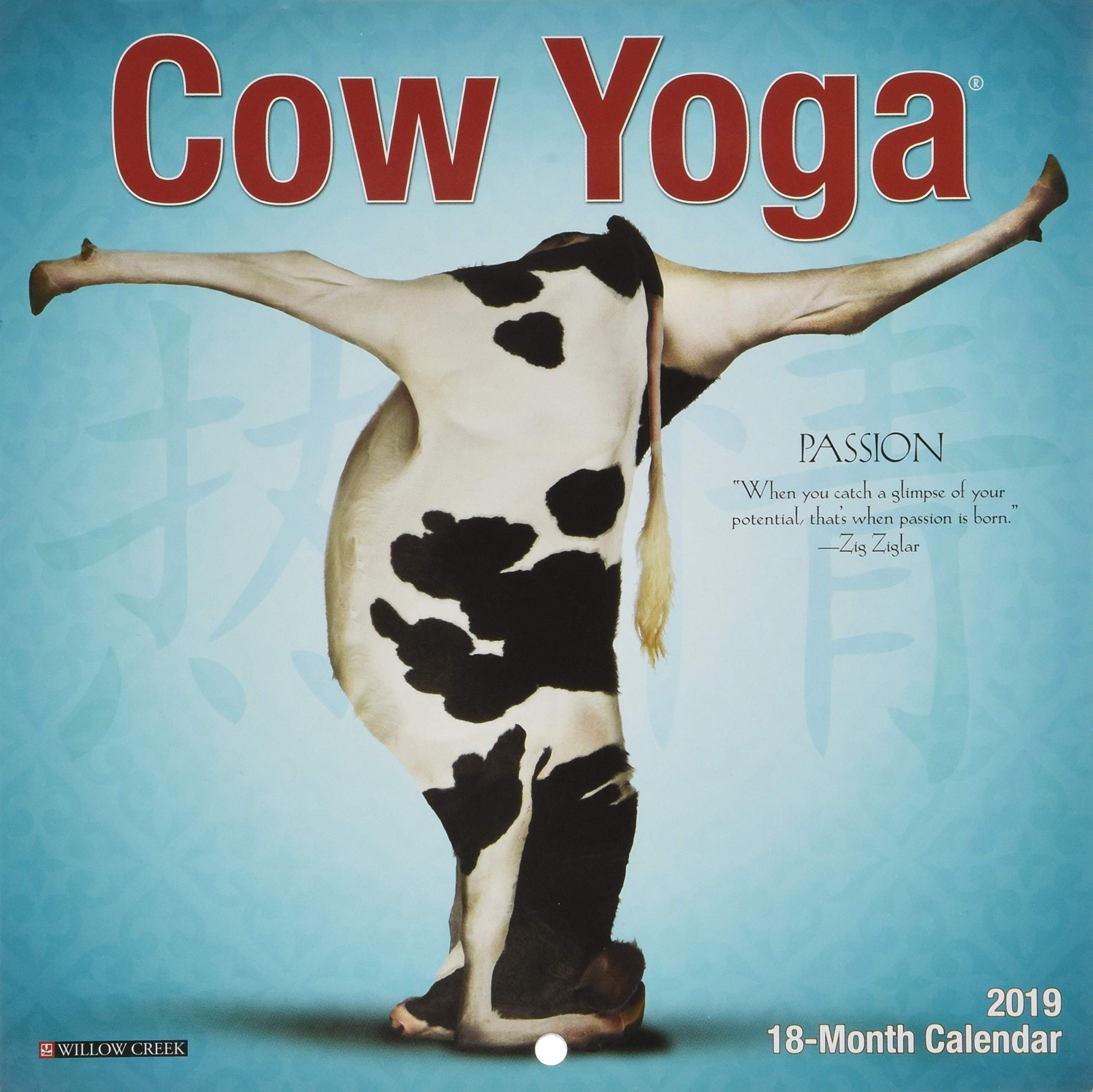Cow Yoga Mini 2019 Wall Calendar: Amazon.es: Willow Creek ...