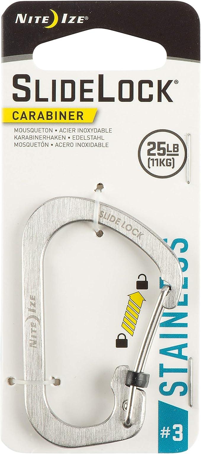 Nite Ize CSL2-11-R6 Stainless Steel Slide Lock Size 2