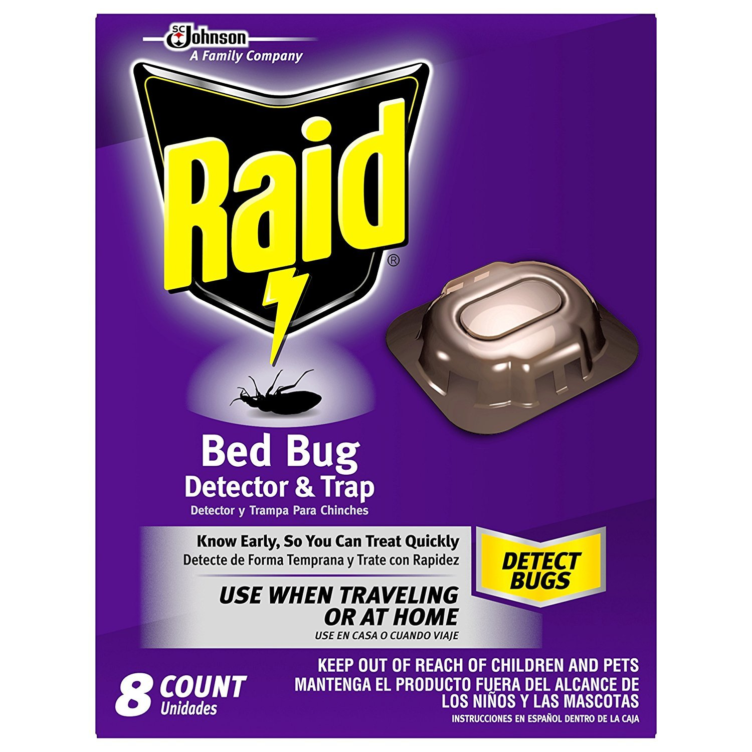 Raid Bed Bug Detector And Trap 8 0 Count Amazon In