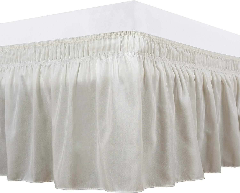 Amazon Com Biscaynebay Wrap Around Bed Skirts Elastic Dust