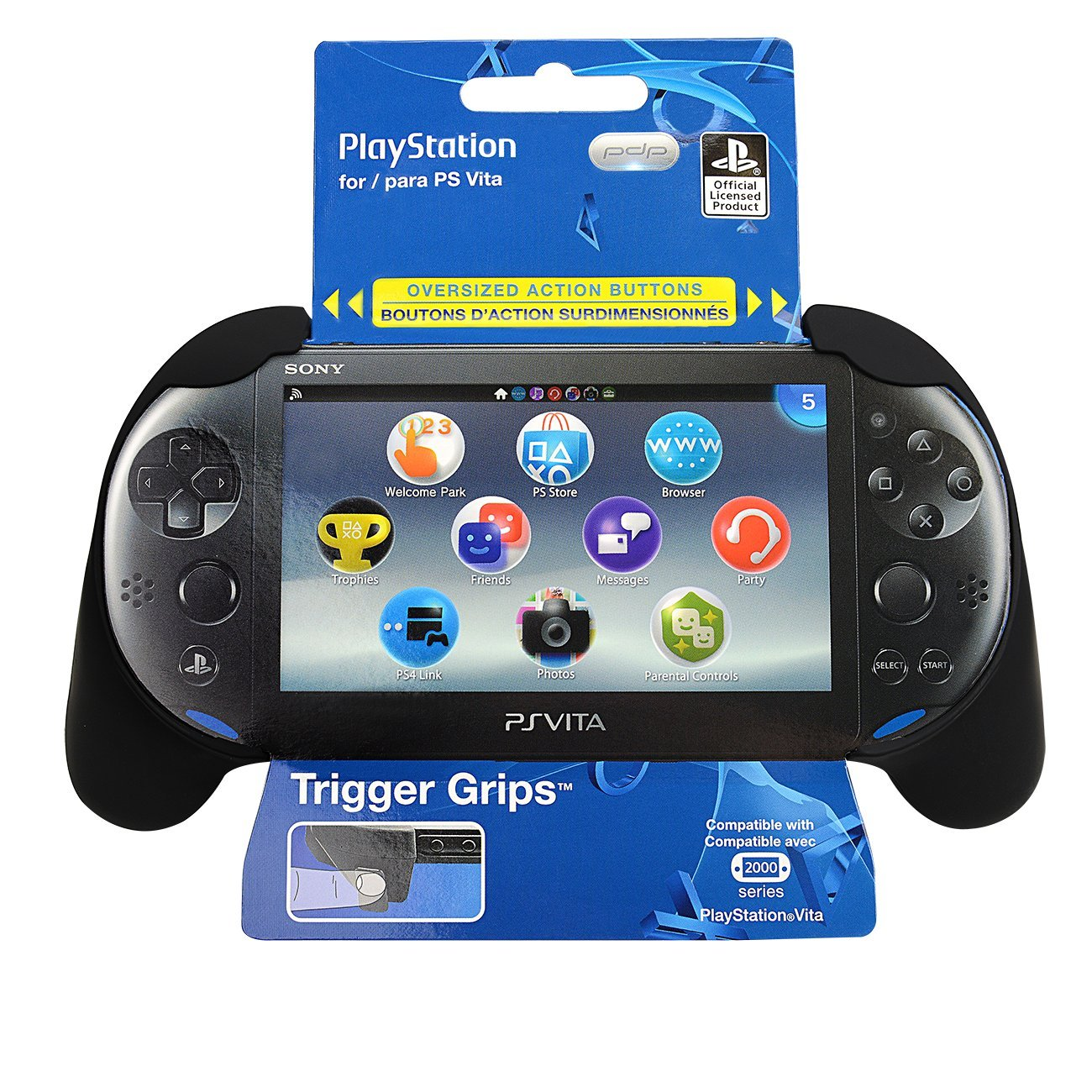 PS Vita 2000 Trigger Grip - Black by PDP (Image #2)