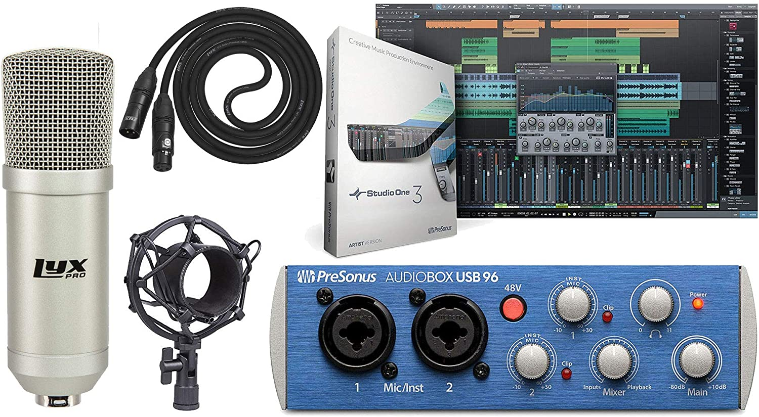4 Channel USB 2.0 Audio Interface for Recording Microphones and Instruments