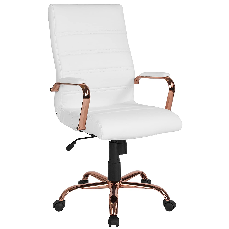 Flash Furniture High Back White Leather Executive
