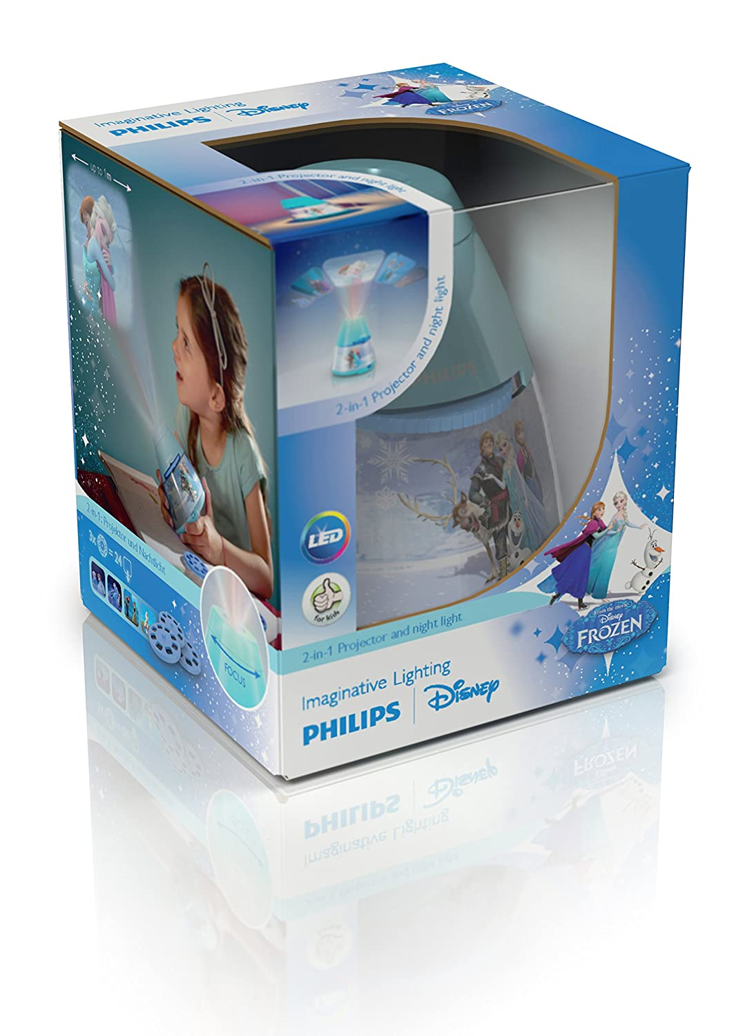 Philips Lighting 71769/08/16 Proyector y luz nocturna 2 en 1, 0.06 ...