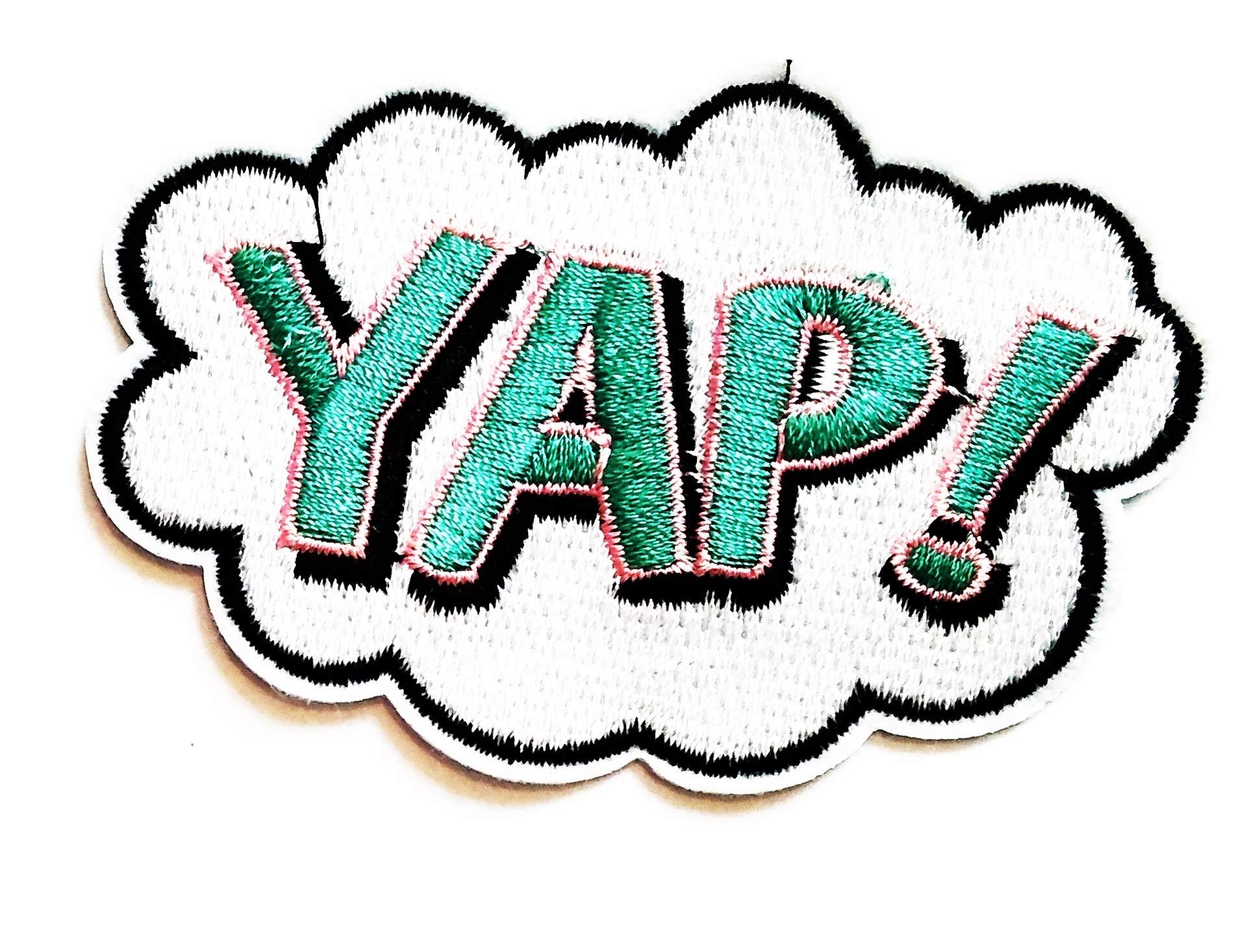 Nipitshop Patches YAP! Super Power Joke Funny Words