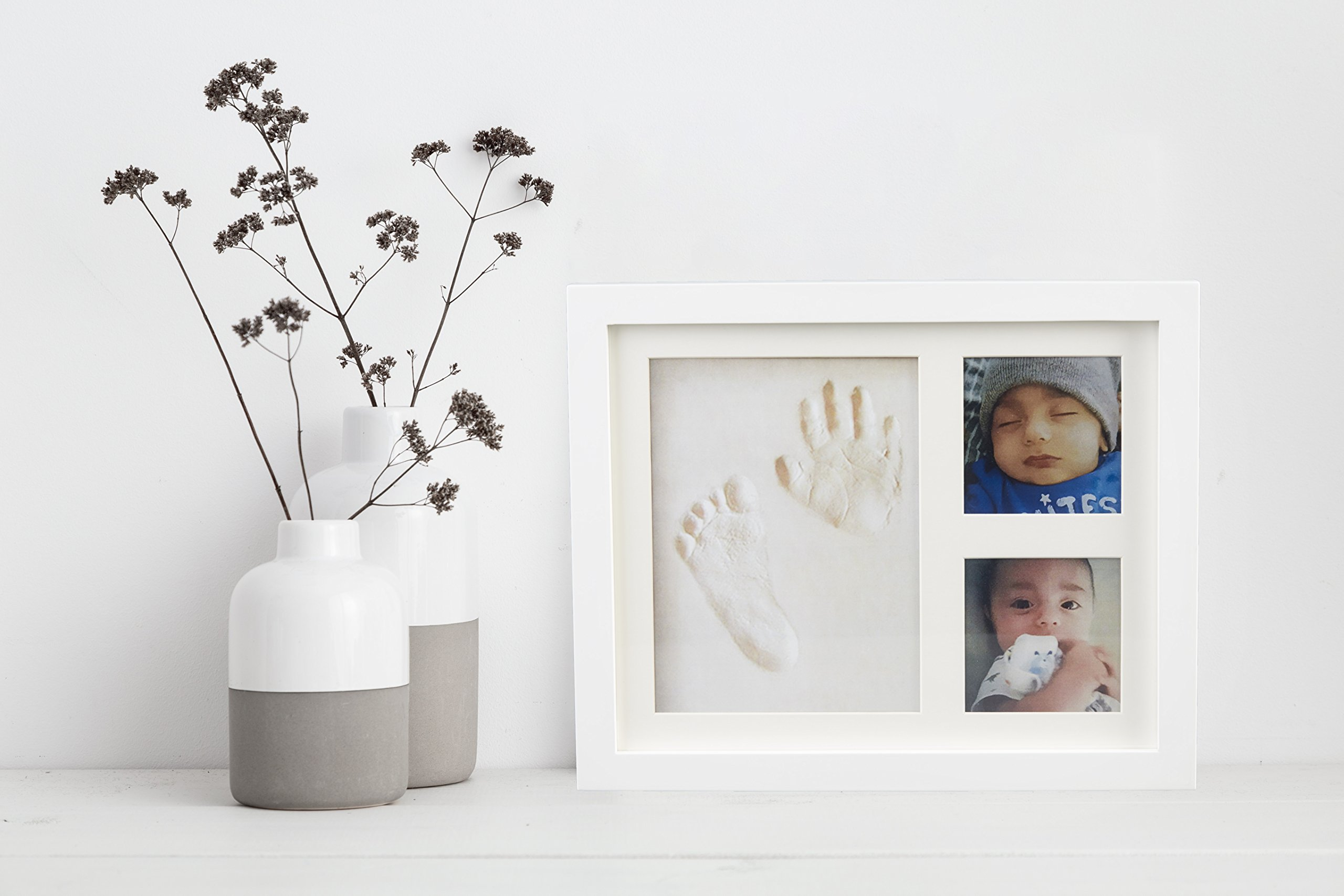 Baby Handprint Picture Frame Clay Kit for Newborn Girls and Boys by Baby Yei - The Photo Frames are Fully Painted White-Prevents Mold Creation-Safe for Treasuring your Angel's First Precious Memories by Baby Yei (Image #7)