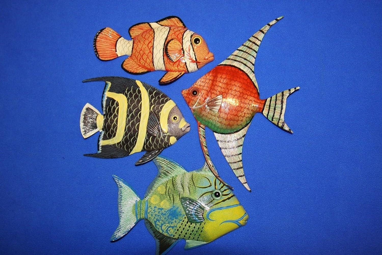 Salty Pelican Pelican Coral Reef Reef Nursery装飾、カラフルな魚3 D - D poly-resin 6インチ、バンドル4魚 B07DPSYX8Z, ゲットマン:f179f932 --- ijpba.info
