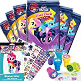 My Little Pony Party Favor Set - 6 Grab & Go Coloring Book Play Packs, 295 MLP The Movie Stickers, 6 Unicorn themed Stampers