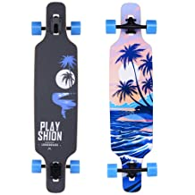 Playshion Freestyle Longboard Skateboard Cruiser