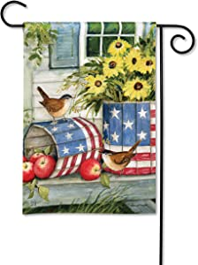 BreezeArt Studio M Patriotic Planters Decorative Garden Flag – Premium Quality, 12.5 x 18 Inches