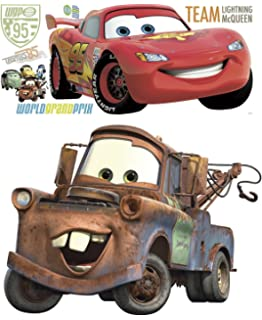 Disney Pixar Cars 2 Lightning McQueen U0026 Mater Peel And Stick Giant Wall  Decal Bundle Part 95