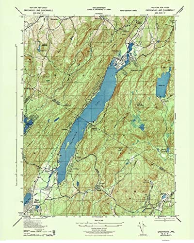 Amazon Com Greenwood Lake 1943 Old Topo Map New York New Jersey