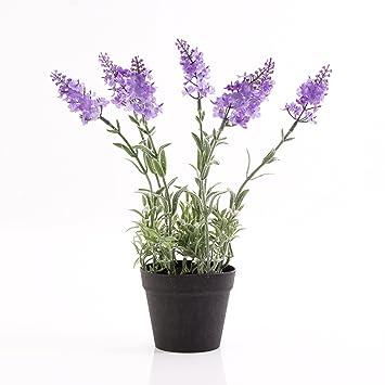 Amazon De Artplants Kunstlicher Lavendel Im Topf Hellviolett 29