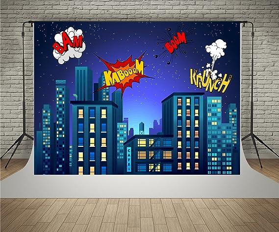 Waw Fotohintergrund Superheld Wow 2 2x1 5m Comics Nacht Kamera