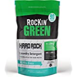 Rockin' Green Hard Rock Laundry Detergent Powder AC/D Sea Breeze Scent 45oz (90 Loads) | All Natural Cleaning Products for Ha