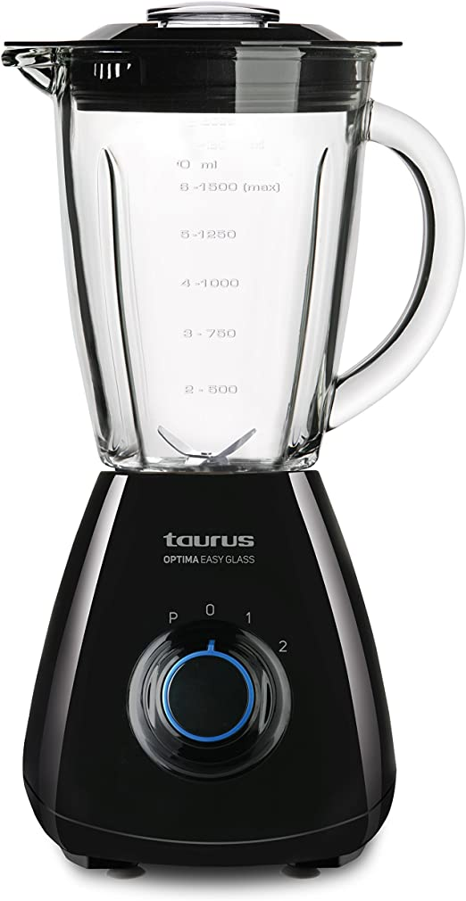 Taurus Optima Easy Glass Batidora de vaso, 450 W, 1.5 litros, 0 ...