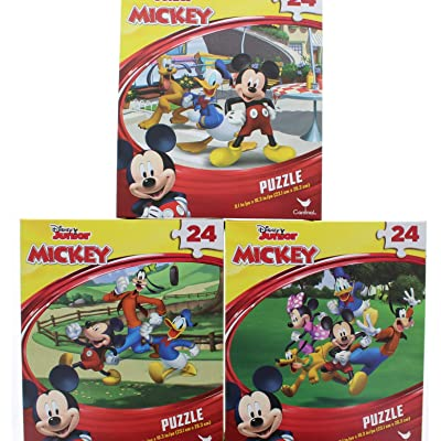 2 Pk. Disney Junior Mickey 24 Piece Puzzle (Assorted Puzzles): Toys & Games