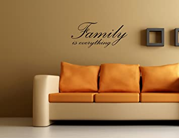 Amazon Com Family Is Everything Vinyl Wall Quotes And Sayings Home