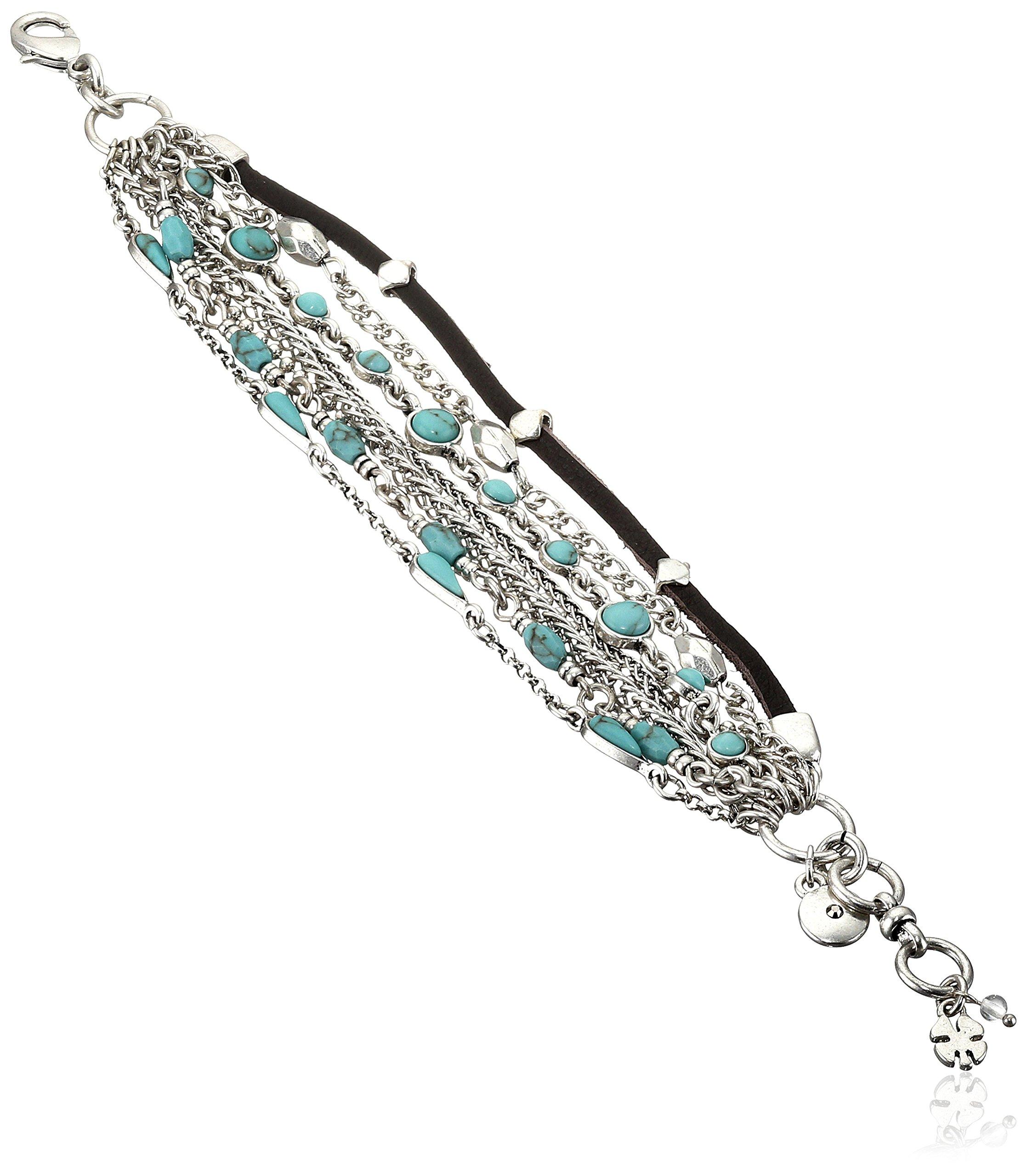 Lucky Brand Mini Lucky Layer Turquoise Bracelet