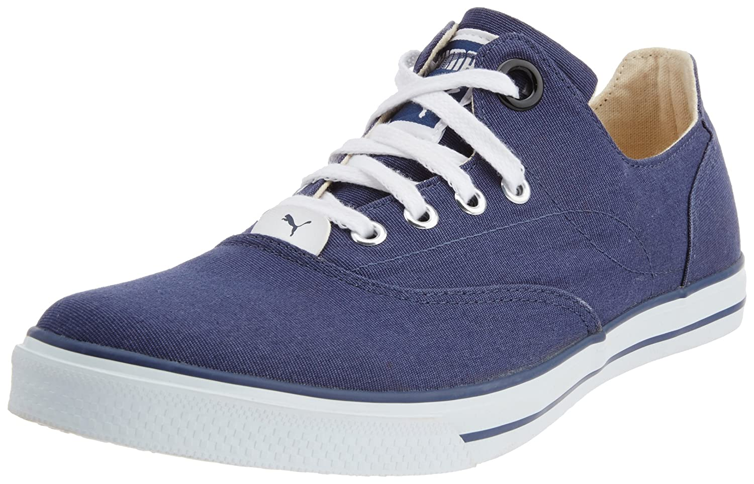 0818458ec67e6a Puma Men s Limnos III Ind. Insignia Blue Canvas Sneakers - 8 UK India (42  EU)  Buy Online at Low Prices in India - Amazon.in