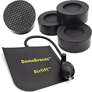 DomoBrands Anti Vibration Pads with Airlift for Washer and Dryer - Non Slip Heavy Duty Rubber Prevents Washing Machines from Walking and Shaking - 5 pc Stabilizer Kit for Noise Isolating and Dampening