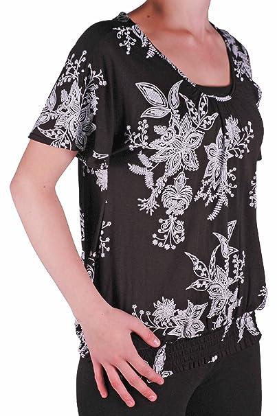 Amazon.com: Mujer Casual ceñido elástico dobladillo volante ...