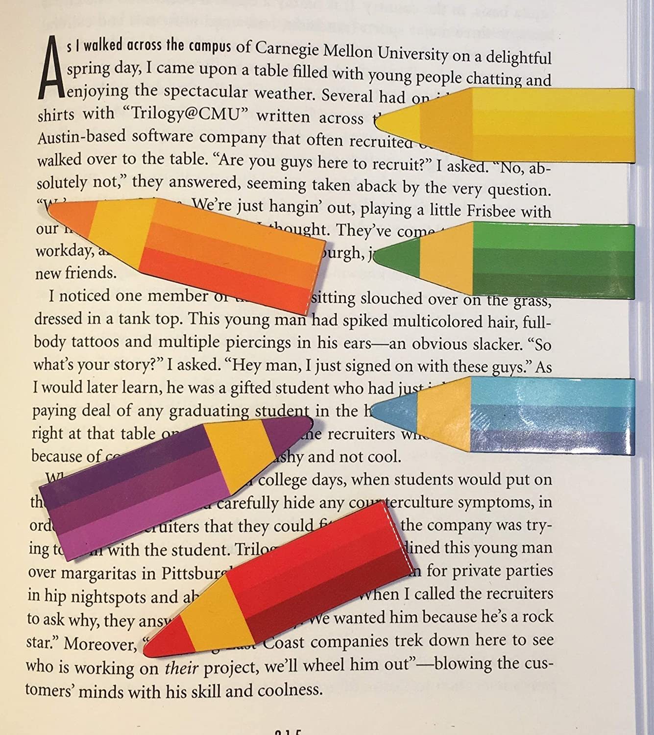 Magnetic Pencil Bookmarks Teens /& Kids! Get to The Point Assorted Colors - Box of 20 Teachers Librarians Women Pencil Pointer Book Marker Pack is Ideal for Men Slip-Over-The-Page