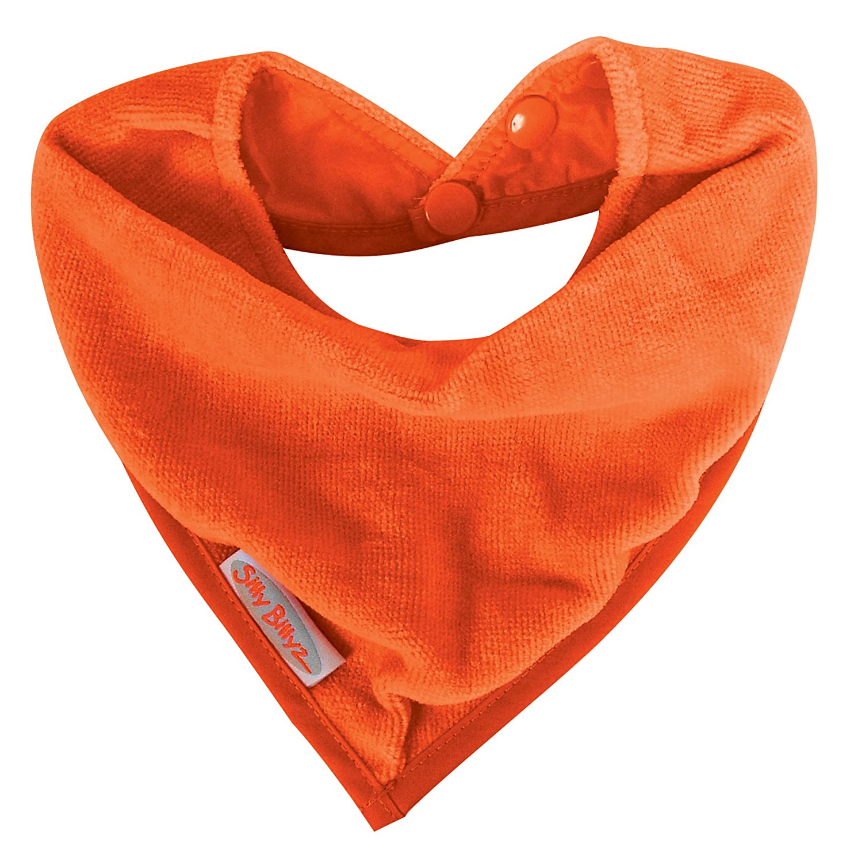 Babero estilo bandana Silly Billyz SIB-200MA color naranja velour