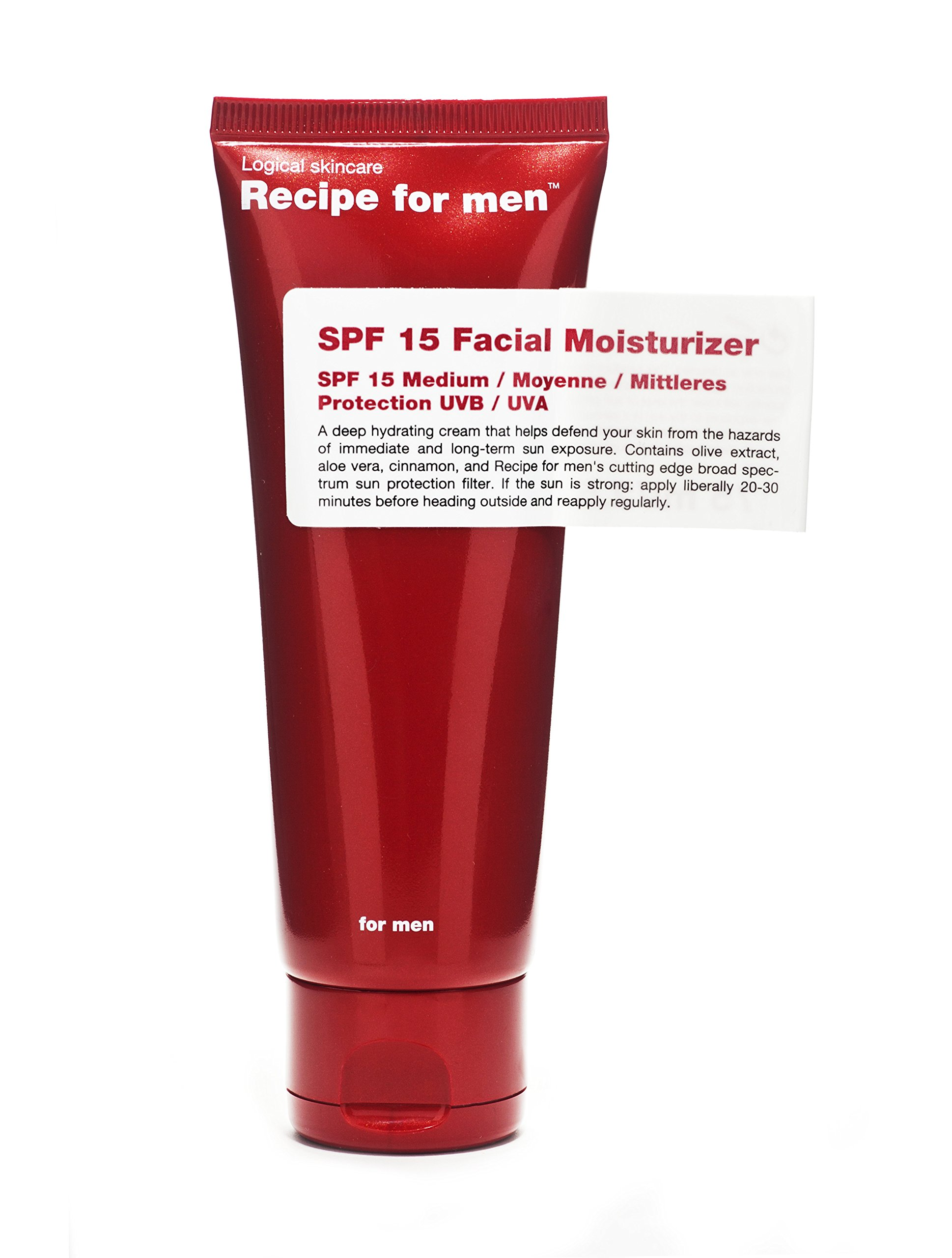 Recipe for Men SPF 15 Facial Moisturizer, 2.5 Fl Oz by Recipe for Men