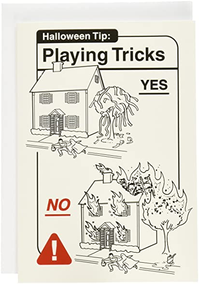 Amazon 3049 playing tricks funny halloween greeting card 3049 playing tricks funny halloween greeting card with 5quot x 7quot m4hsunfo