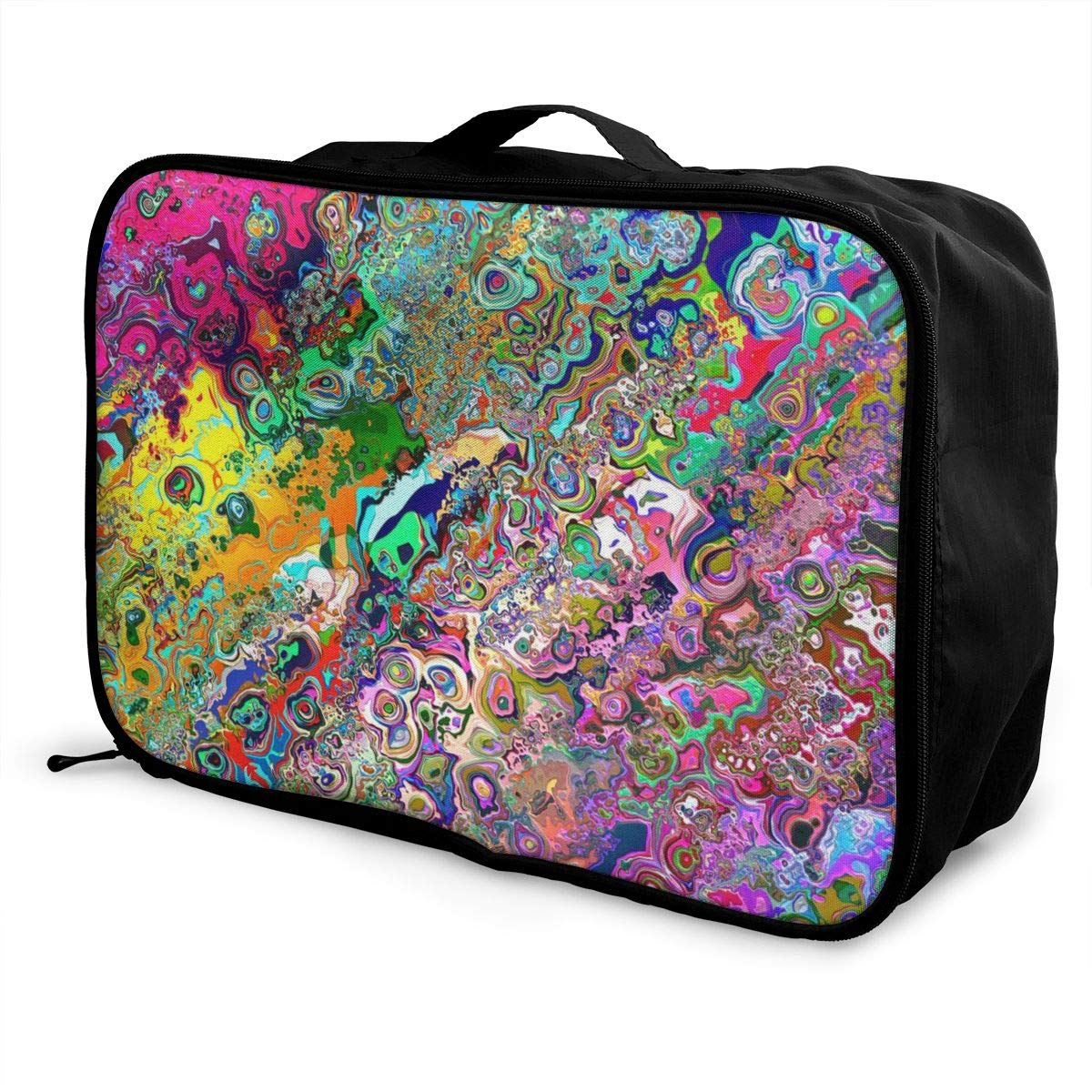 Psychedelic Tripple Travel Duffel Bag Casual Large Capacity Portable Luggage Bag Suitcase Storage Bag Luggage Packing Tote Bag Weekend Trip