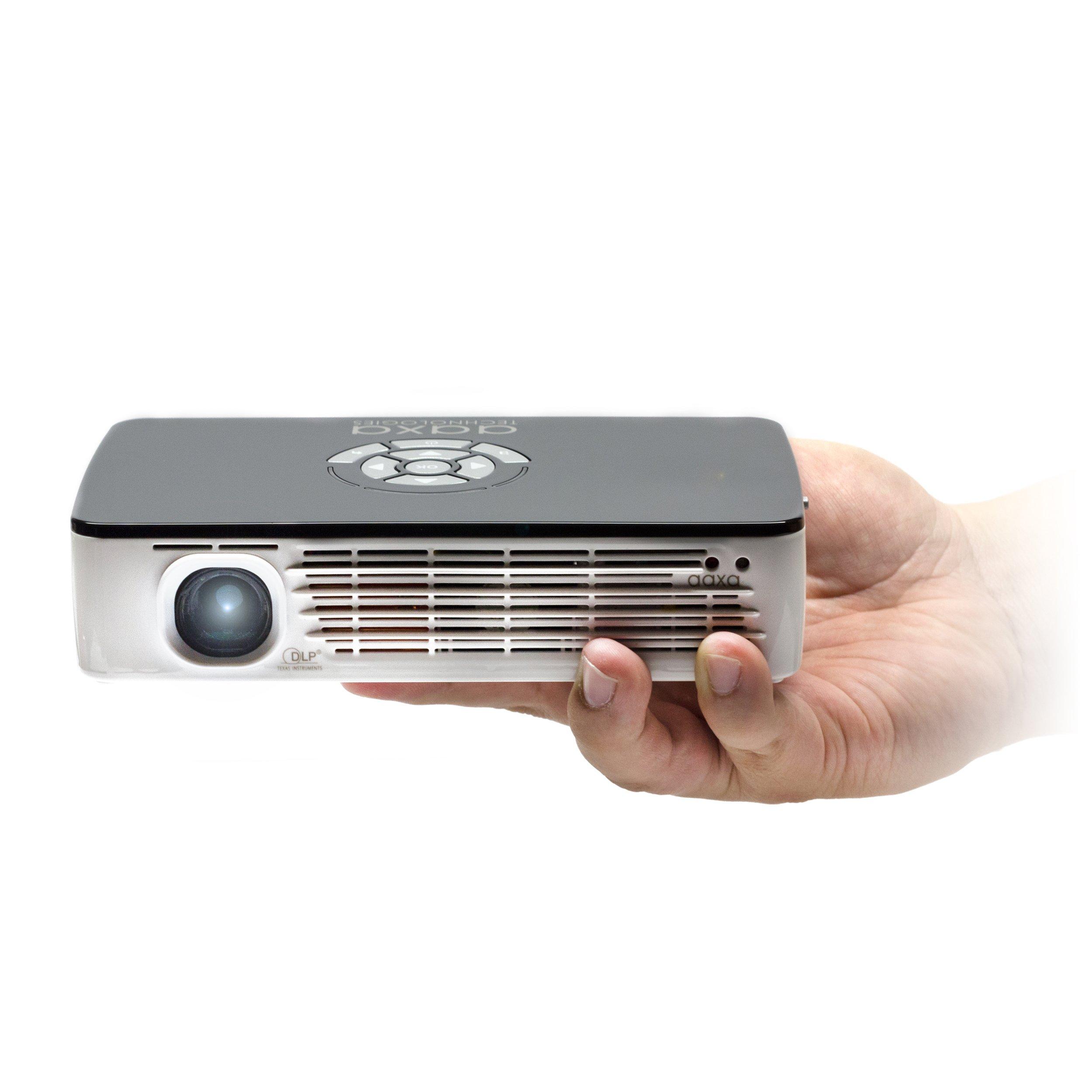 AAXA KP-700-01 P700 WXGA LED Pico Projector, 650 Lumens, 70+ Min Battery, Native 1280x800 HD Resolution, 15,000 Hour LED, HDMI, Media Player, DLP