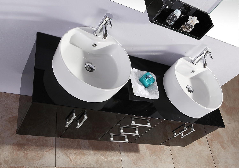 Mobile bagno BUTTERFLY arredo bagno arredobagno 150 cm nero laccato ...