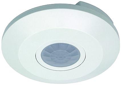 adluminis Detector de movimiento para techo Montaje Plano, alcance 6 m