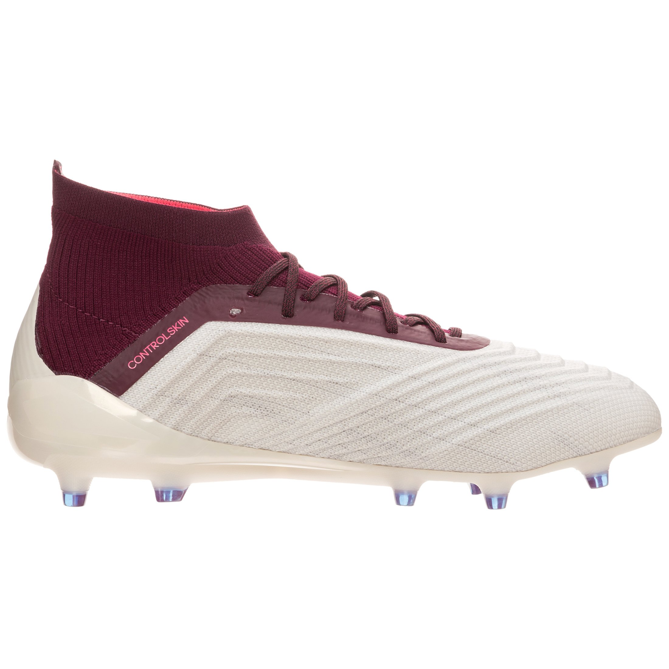 Adidas Womens Predator 18.1 Firm Ground Cleats - (Talc/Vapor Grey Metallic/Maroon) (9-)