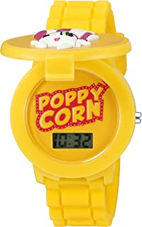 Shopkins Girls Quartz Plastic and Silicone Casual Watch, Color:Yellow (Model: KIN4032