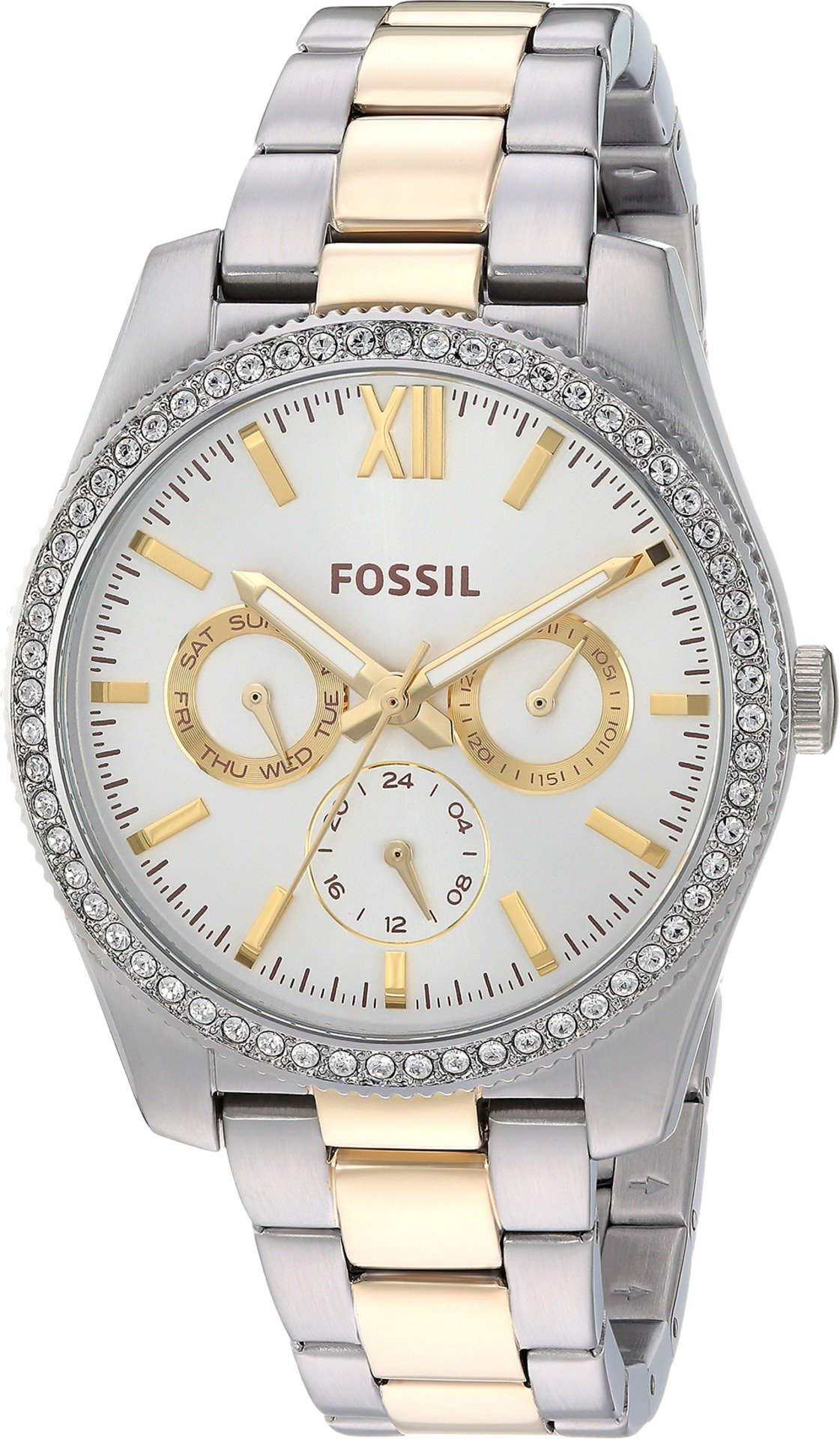 Fossil Women's 'Scarlette' Quartz Stainless Steel Casual Watch, Color:Silver-Toned (Model: ES4316)